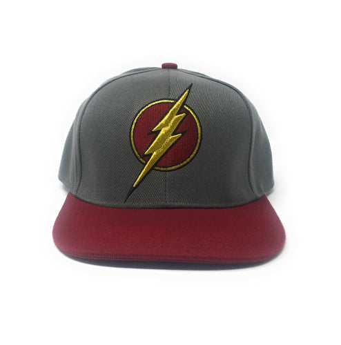 The Flash - DC Comics Heather Grey/Red Snapback Hat