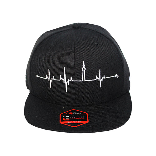 HeartBeats T.O. - The Cap Guys TCG / Inspired Exclusives White and Black Snapback Cap