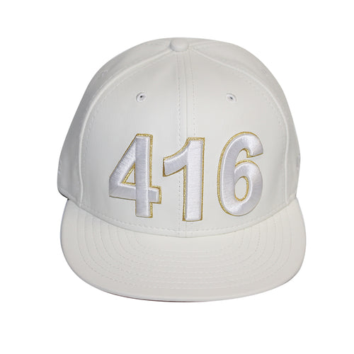 416 Toronto - The Cap Guys TCG / Inspired Exclusives PU White/Gold Strapback Cap