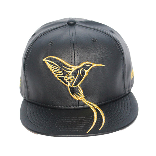 The Doctor Bird - Jamaica - The Cap Guys TCG / Inspired Exclusives Gold And Black Strapback Cap