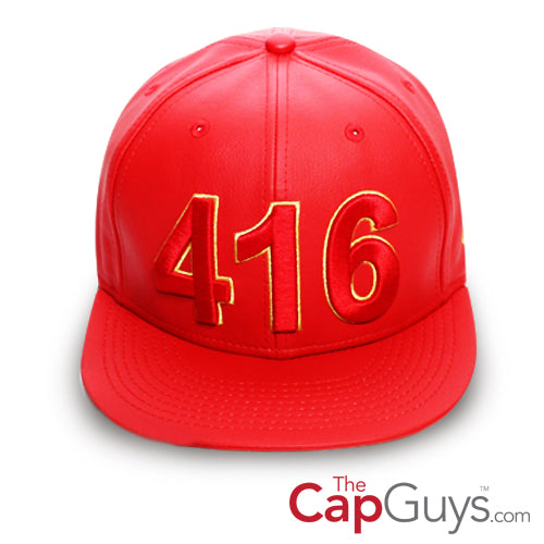 416 Toronto - The Cap Guys TCG / Inspired Exclusives PU Gold/Red Snapback Cap