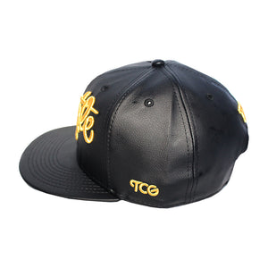 Hustle - T.O. - The Cap Guys TCG / Inspired Exclusives Gold and Black Strapback Cap
