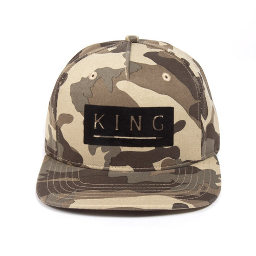 King Apparel Manor Camo Snapback Hat