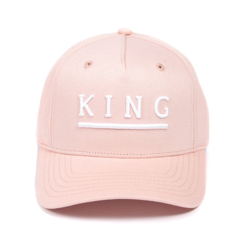 King Apparel Shadwell Curved Peak Blush Pink Snapback Hat