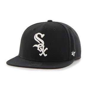 47 Brand Black Chicago White Sox No Shot 47 Captain Youth Cap