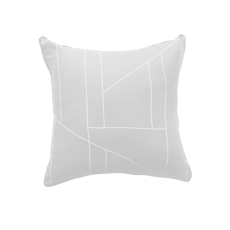 Flux Printed Cushion Feather Grey