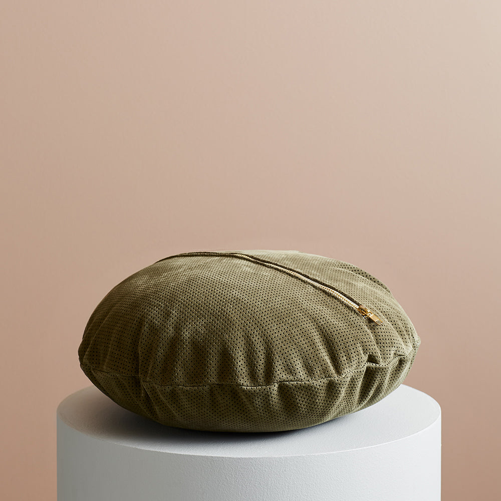 Knox Suede Cushion Olive