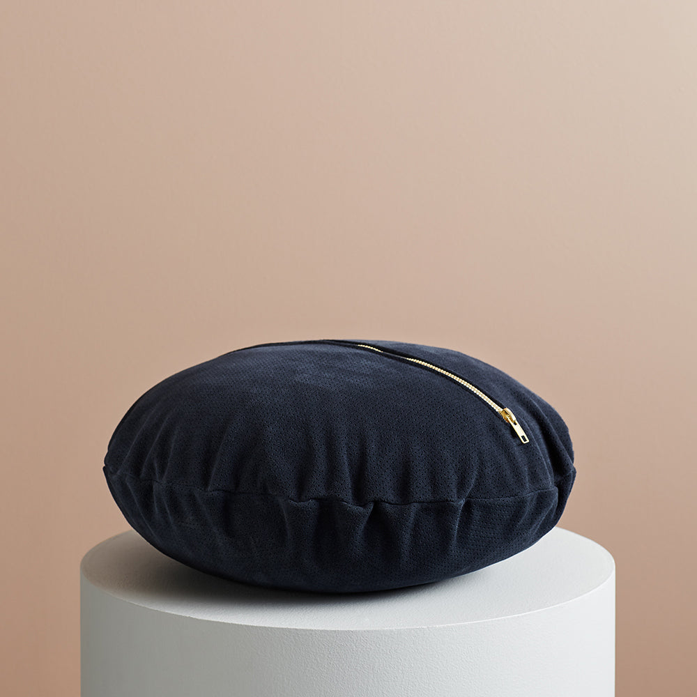 Knox Suede Cushion Navy
