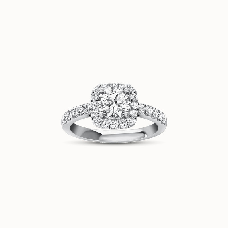 NENH26R58 - MODERN HALO SHARED (1/2 ct. tw)