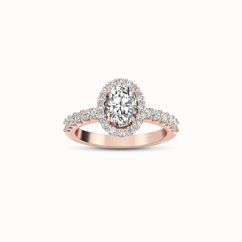 NENH38R81 - Halo Shared Prong (3/4 ct. tw)