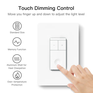 Treatlife Wi-Fi Smart Dimmer Switch,works with Alexa,Google Assistant,Neutral Wire Needed