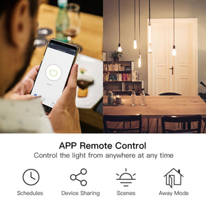 Treatlife Wi-Fi Smart Light Switch,works with Alexa,Google Assistant,Neutral Wire Needed