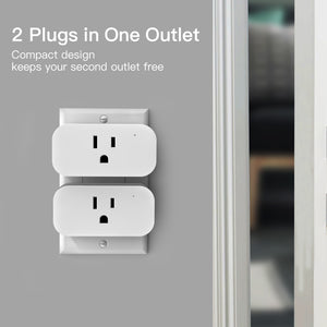 No Hub Required Remote Control Reliable WiFi Connection Treatlife 15 Amp Wifi Smart Outlet with Child Lock and Vacation Mode 4 Pack Compatible with Alexa and Google Assistant Smart Plug