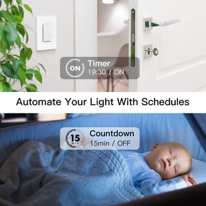 Treatlife 3 Way Wi-Fi Smart Light Switch,works with Alexa,Google Assistant,Neutral Wire Needed