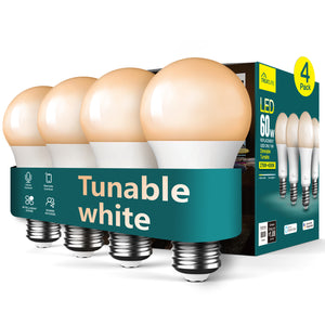 TreatLife Smart Turnable White Bulb,1500k-9000k,Work with Alexa,Google Assistant,8W 850Lumens