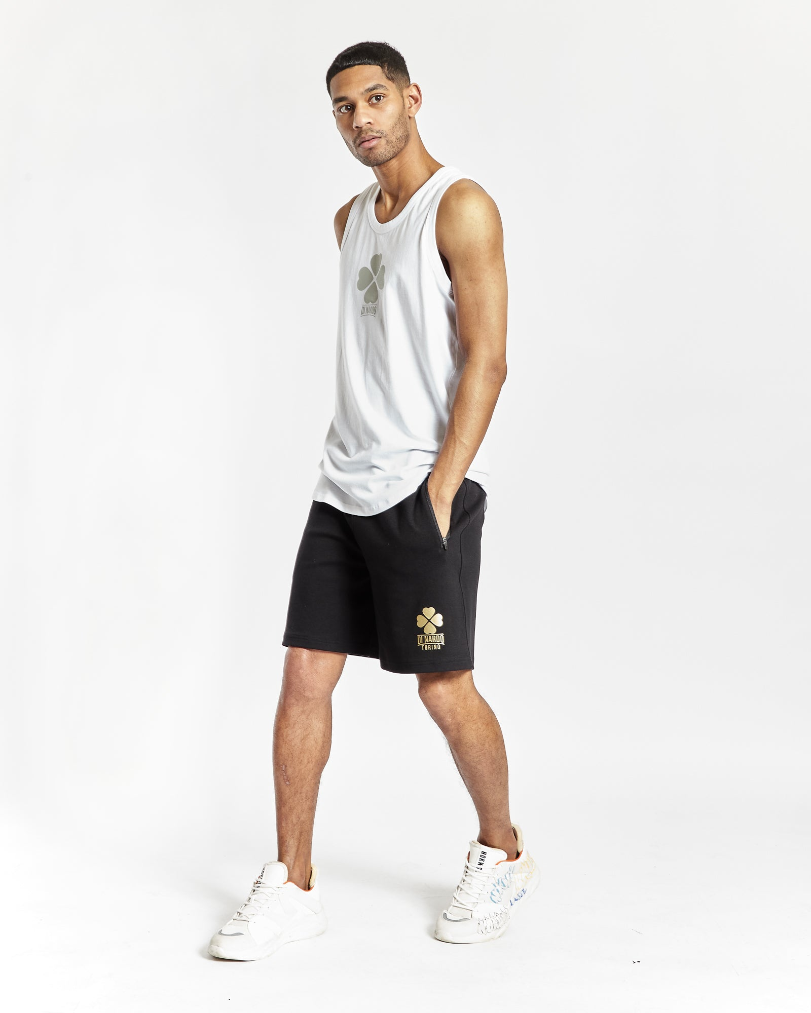 Di Nardo Men's Black Gym Shorts