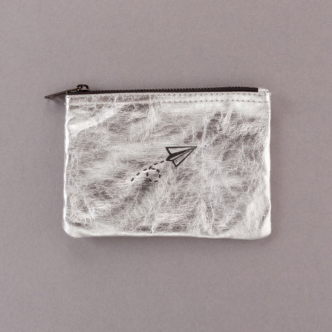 Leaving on a Paper Plane - Silver Pouch