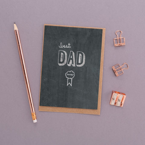 Best Dad Award Chalkboard Card