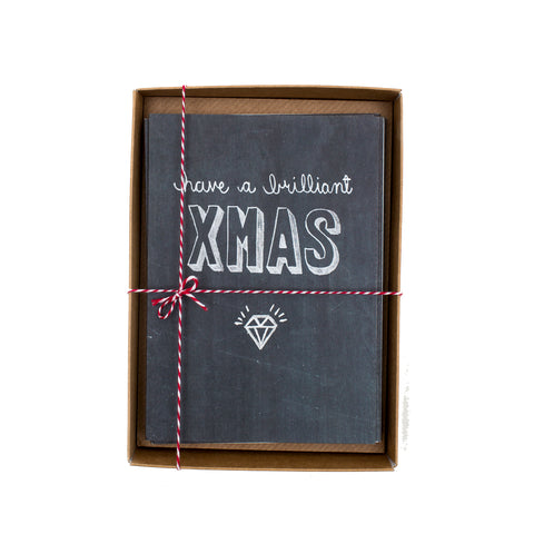 Brilliant Xmas Chalkboard Christmas Card Box