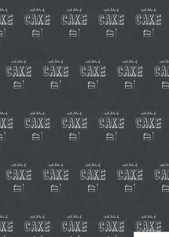 Eat Lots of Cake Chalkboard Wrap 5 sheets