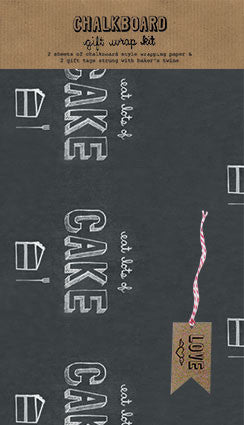 Eat Lots of Cake Chalkboard Wrap Kit