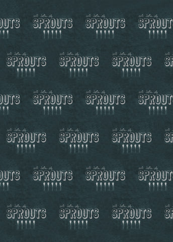 Eat Lots of Sprouts Chalkboard Wrap 5 sheets