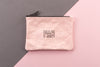 Pink FAB Zipper Pouch Bag
