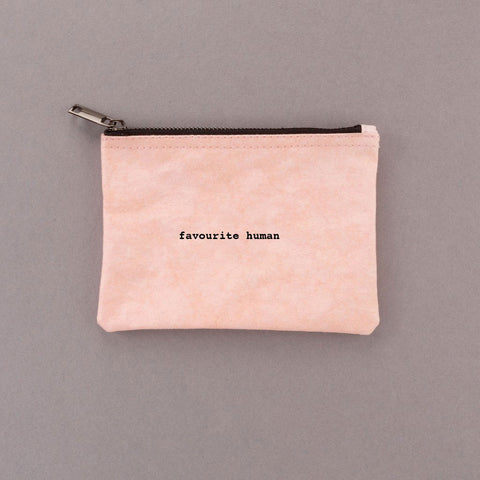 Favourite Human - Pink Pouch