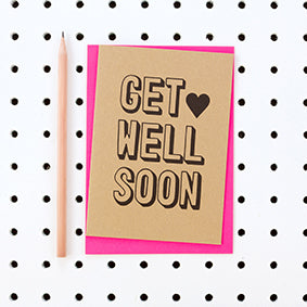 Get Well Soon Kraft Card