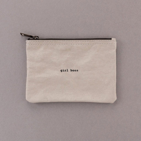 Girl Boss - Grey Pouch