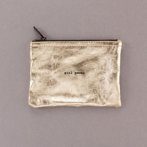 Girl Power - Gold Pouch
