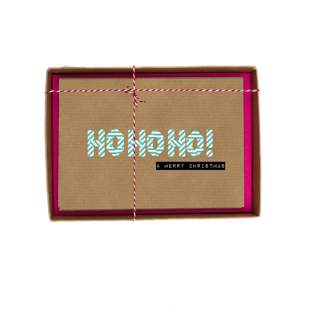 Ho Ho Ho Washi Tape Christmas Card Box