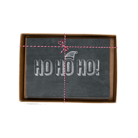 Ho Ho Ho Chalkboard Christmas Card Box