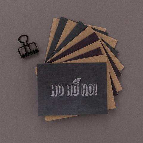 'Ho Ho Ho' Mini Chalkboard Christmas Cards Pack of 5