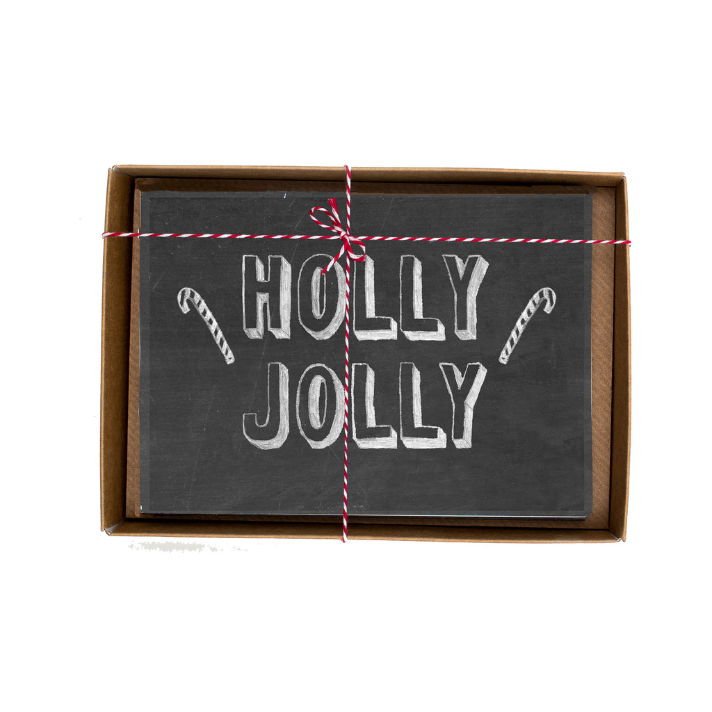 Holly Jolly Christmas Card Box