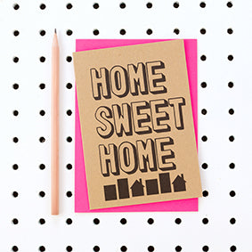 Home Sweet Home Kraft Card