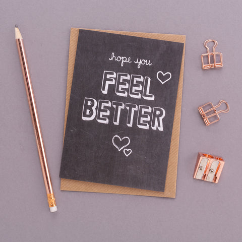 Feel Better Chalkboard Card