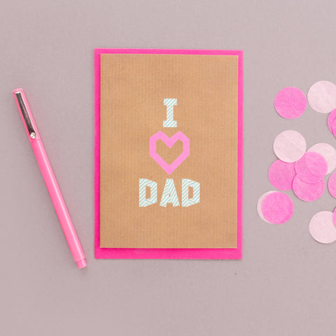 I Heart Dad Washi Tape Card