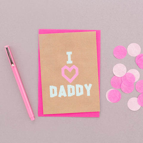 I Heart Daddy Washi Tape Card