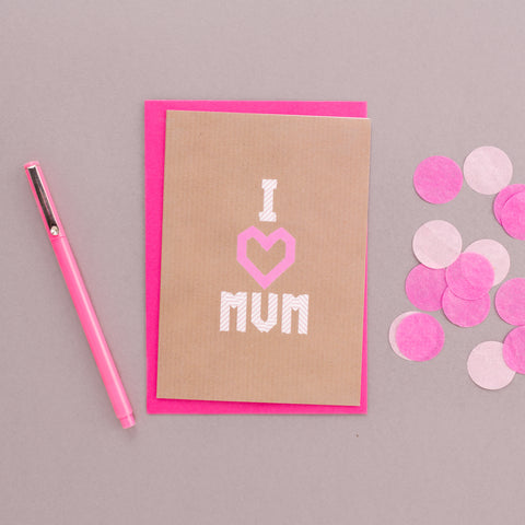 I Heart Mum Washi Tape Card