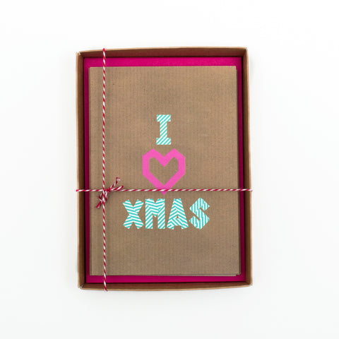 I Heart Xmas Washi Tape Christmas Card Box