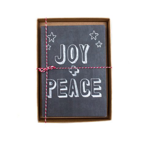 Joy & Peace Chalkboard Box