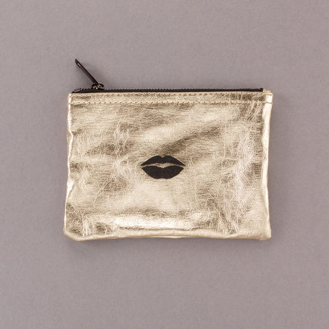 Pucker Up - Gold Pouch