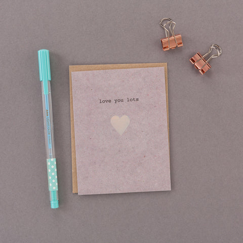 Holographic Love You Lots Mini Card