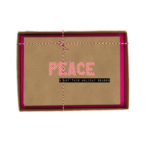 Peace Washi Tape Christmas Card Box
