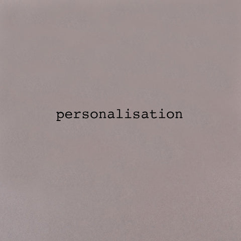 z Personalisation Extra Charge