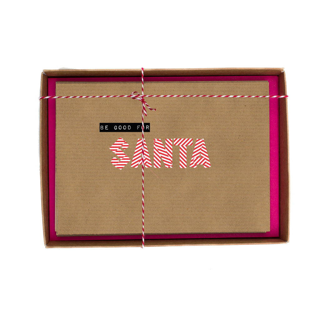 Be Good for Santa Washi Tape Christmas Card Box