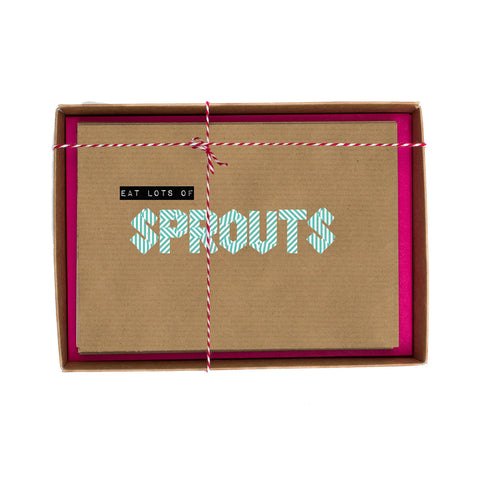 Sprouts Washi Tape Christmas Card Box