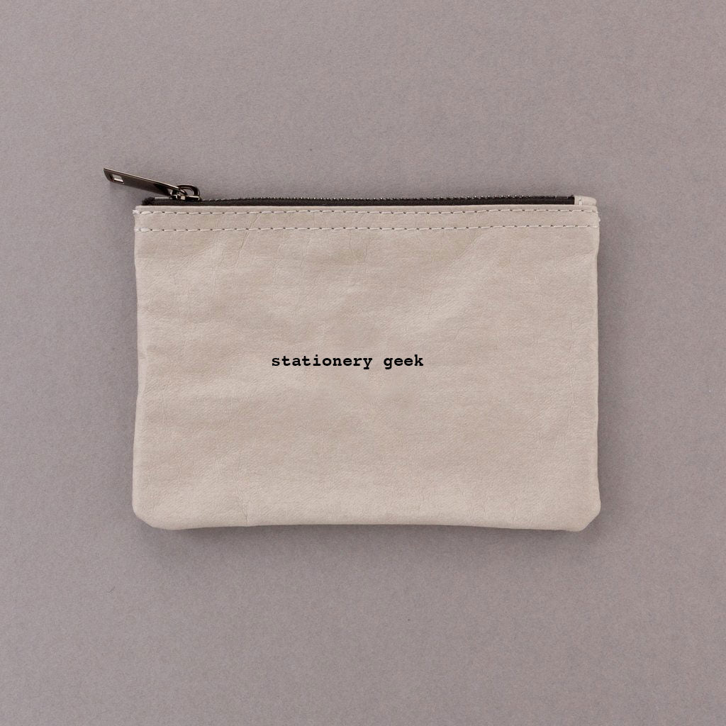 Stationery Geek - Grey Pouch