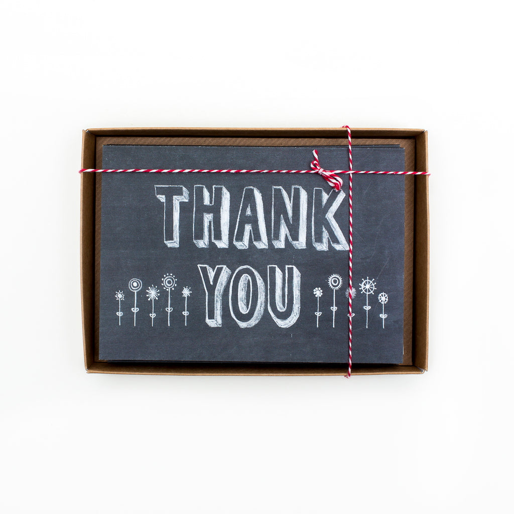 Thank You Chalkboard Boxed Cards